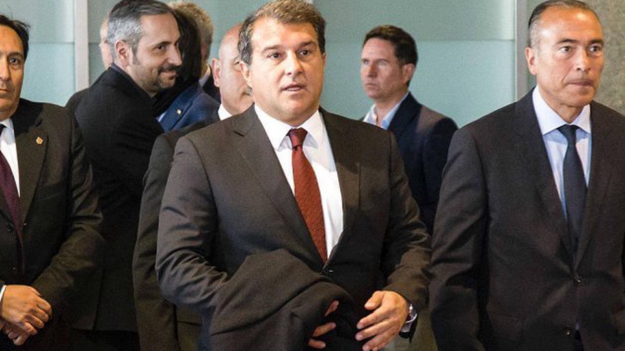 Barcelona president Laporta facing Super League vote on Sunday