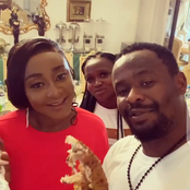 See Lovely Photos Of Zubby Michael And Ini Edo On Movie Set Of Gbege