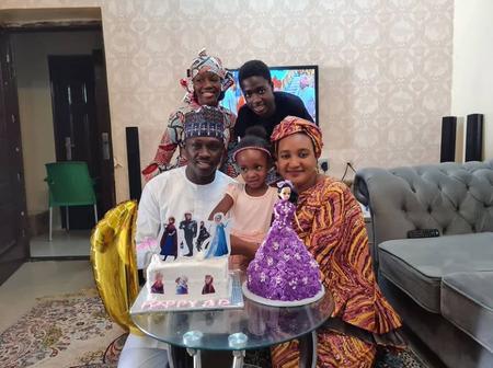 Kannywood Actor, Ali Nuhu shares beautiful family photos to celebrate his daughter's birthday.