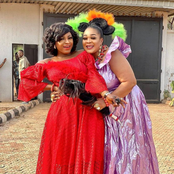 Photos: Destiny Etiko and others pictured on the set of an upcoming Nollywood movie
