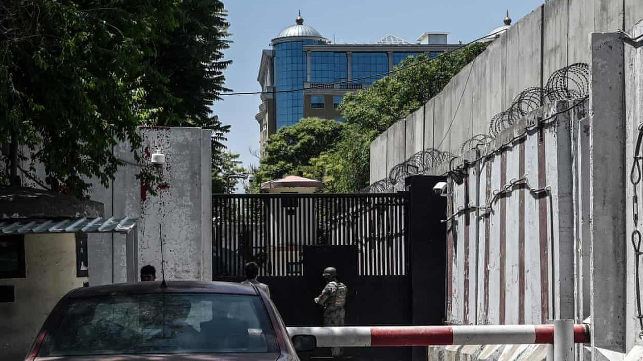 US embassy in Kabul locks down amid Covid surge and death of one staffer