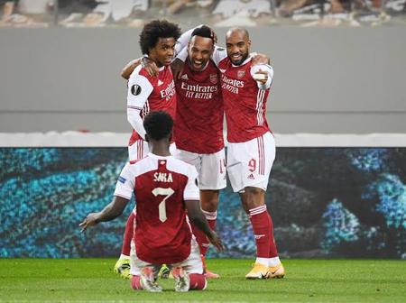On Fire Bukayo Saka And Aubameyang Rescue Arsenal From Europa League Exit With 3-2 Win Over Benfica