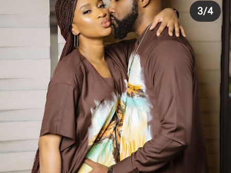 Mixed Reactions As Banky W Shares Loved Up Photos With Wife