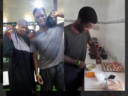 Throwback: Aisha Yesufu's First Son Was Seen Cooking For The Family (Video & Photos)