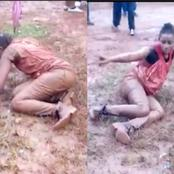 Avoid Alcohol, See What A Young Lady Started Doing In Public After Drinking Too Much Alcohol (Video)