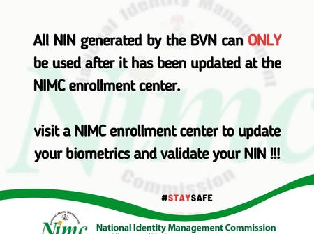 UPDATE: If You Have Successfully Generated Your NIN With BVN, You Must Do This