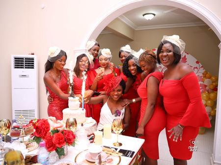 Did you miss out on musician Becca's Bridal shower ? Check out some wild photos
