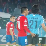 This Is What Happened To Chilean Defender Gonzalo After Doing This Disgusting Act To Cavani