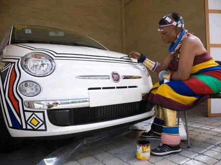 Meet The Woman Who Is Known To Decorate Cars With The Use Of Her Hand