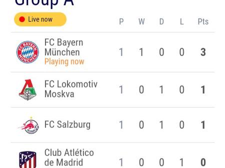 After Bayern Thrashed Atletico Madrid 4-0, This Is How The Uefa Champions League Group-A Looks Like