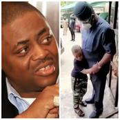 Mixed Reaction As FFK Shares Video Of His Son Stopping Him From Going For A Meeting