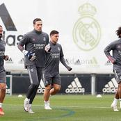 Photos: Check out Real Madrid Stars in training ahead of tie against Monchengladbach on Tuesday