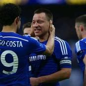 John Terry and Diego Costa exchange messages before Chelsea beat Atletico Madrid. See what they said
