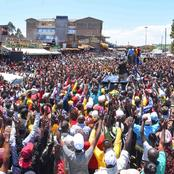 Thousands Turns up to Receive Dp Ruto in Heroic Welcome, Brings Muranga to standstill (Photos)