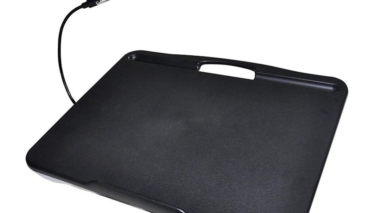 Promotion > Bureau de genou de bureau d'ordinateur portable avec 3 niveaux de luminosité LED Lumières pour le bureau à domicile - Noir - code promo Gearbest, BangGood, code promo Cdiscount ou AliExpress