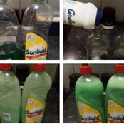 Here's how you can turn one bottle of Sunlight dishwashing liquid into 2 bottles. IT WORKS!