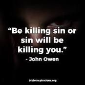 Why Sin must be killed in you.