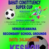 Hon. Kimani Ngunjiri's Bahati Constituency Super Cup Semi Finals Results