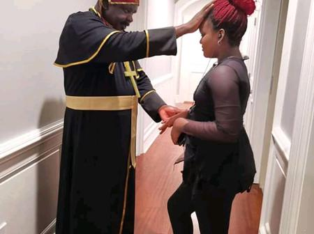 Watch pictures of Koo Ofori acting like a pastor.