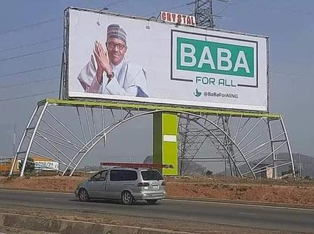 President Buhari's Billboards In Abuja Cause Concerns That He May Be Seeking A Third Term