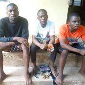 Three robbers arrested with two revolver pistols, bullets two months after attacking their victim