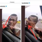Video: He Tried To Snatch A Phone From A Moving Vehicle But Got Caught, Look At What They Did To Him