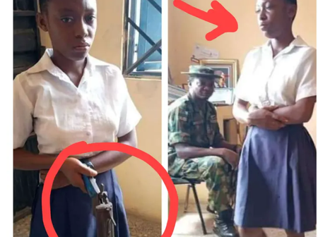 See What This Young Student Was Caught With In The School That Made Soldiers to Intervene