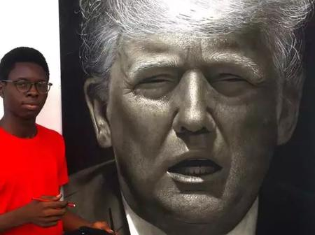 See what Americans said after a 17-year-old Nigerian boy drew a portrait of Donald Trump