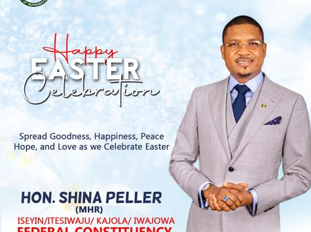 Easter: Shina Peller Rejoices with Christians, Urges all to Spread Love, Peace