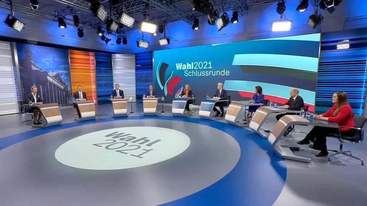 TV-Debatte: Parteien suchen letzte Koalitions-Positionierungen