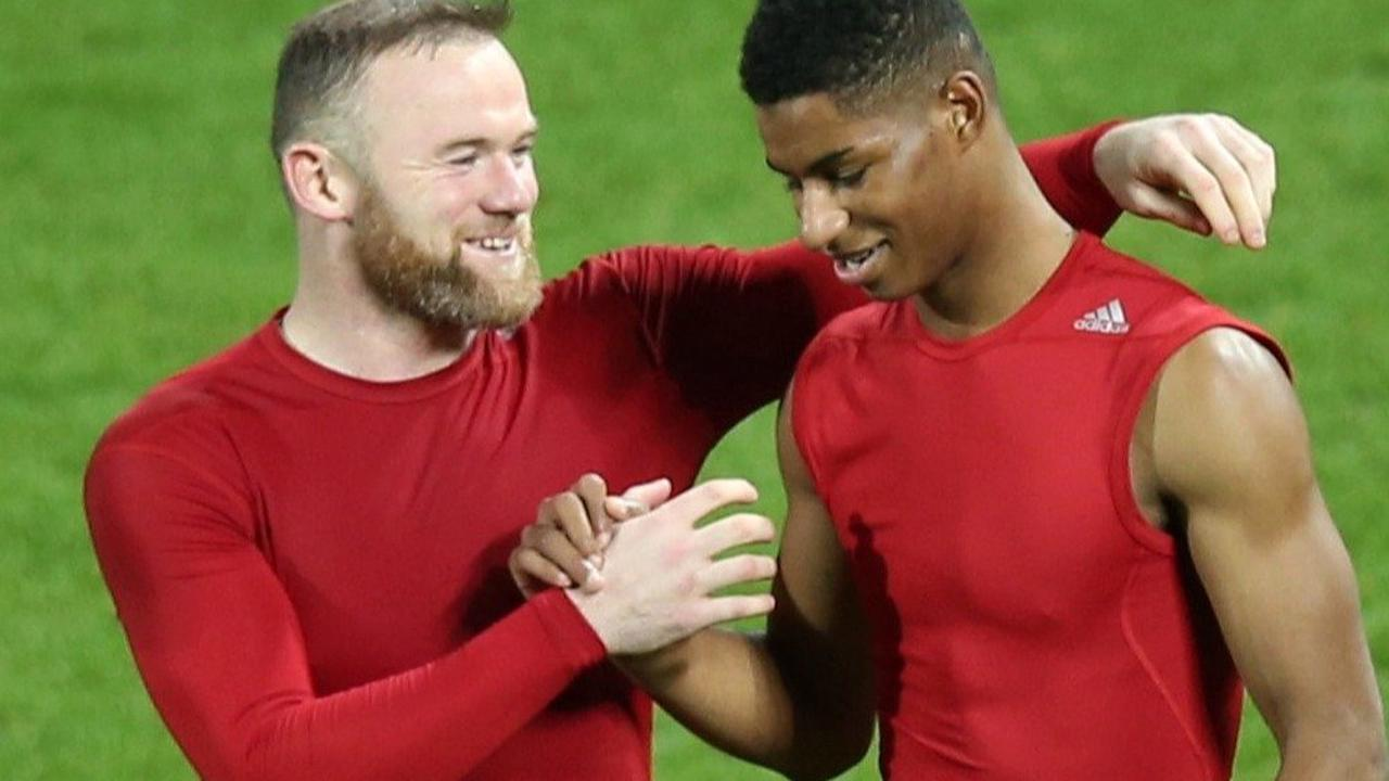 Rooney reveals he used Rashford's incredible rise to motivate Derby kids