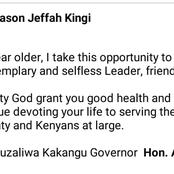Governor Kingi Puts Aside Political Differences Aside, Sends Joho This Special Message