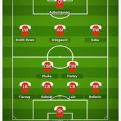 How Arsenal could lineup to defeat Leceister on Sunday.
