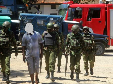 Police Arrest a Suspected Al-Shabaab, Upon Checking His Mobile Gallery, These Photos Were Found