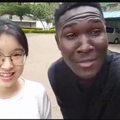 Dj Afro Junior Shows Off With His Beautiful Chinese Lover, They Just Look Amazing Together