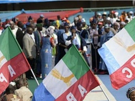 APC Crisis deepens: Some APC members are protesting for not having national convention.