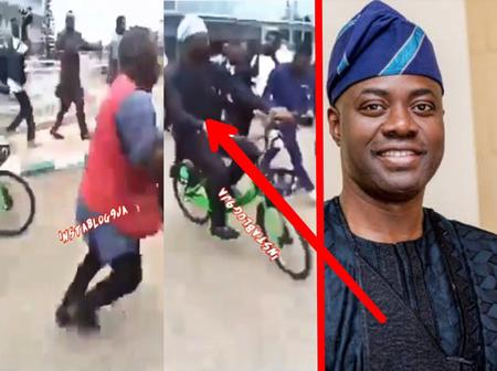 [VIDEO] See What Gov. Seyi Makinde Was Spotted Doing In Oyo State That Stirred Reactions From People