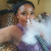 Is she a smoke Goddess?. Girl causes outrage Online with these Provocative Photos.