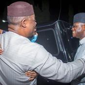 Governor Bello Visits FFK At Abuja Residence After Lifting Food Embargo Against South (See Photos)