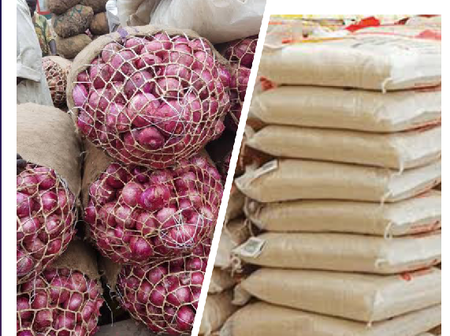 50kg Bag Of Rice And Onions In Lagos Is No Longer N24,000 And N12,000. See Their New Prices Here.