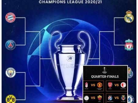 UEFA Champions League And Europa League Quarter Finals Draws Released