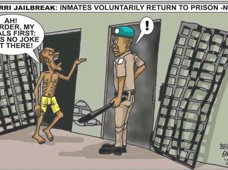 Cartoon About How Inmates Will Behave When They Voluntarily Return To Prison Sparked Reactions
