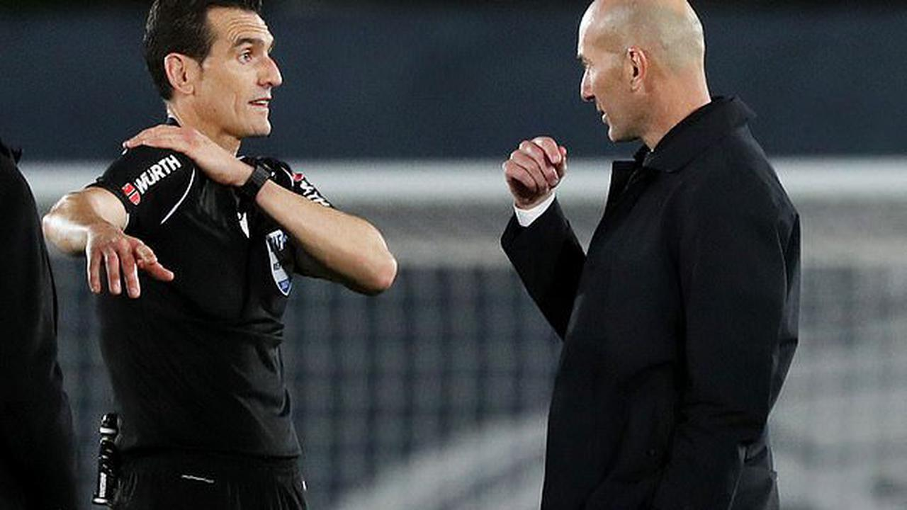 'I'm very angry... you'll have to explain the handball rules to me': Real Madrid boss Zinedine Zidane fumes after Sevilla were awarded controversial penalty in LaLiga draw... as he insists Eder Militao was punished while Joan Jordan got away with similar