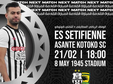 Asante Kotoko To Deploy Different Approach For ES Setif On Sunday, Check Out Full Details