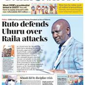 Monday 25th: The Standard And Daily Nation Newspapers Headlines About DP Ruto, Uhuru And Raila