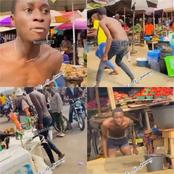 Man Acts Weird As He Professes His Love For Bobrisky In A Market(Video)