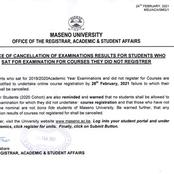 Maseno University Issues Examination Notice to All Students