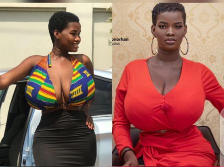 Meet Beautiful Endowed Ghanaian Actress Pamela Odame Whose Father is A Kenyan