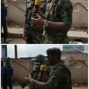 'We are not here to kill you'—Soldiers pleads with protesters in a viral video(photos + video)