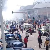 Watch : Xenophic Attack As Shops belonging to Foreign Nationals are being burned in Durban central